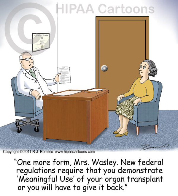 Cartoon-doctor-talks-to-patient-about-meaningful-use-of-organ-transplant_emr103