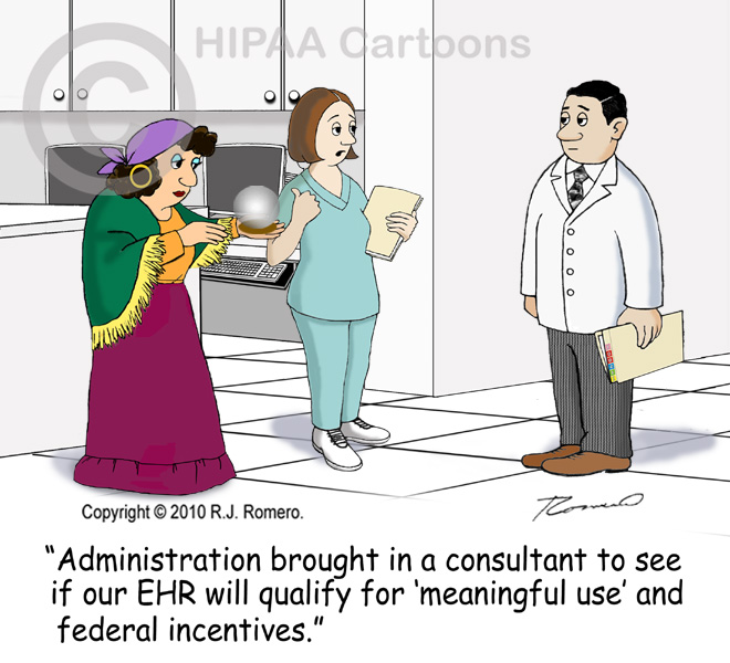 Cartoon-nurse-brings-in-fortune_teller-to-predict-if-EHR-will-qualify-for-meaningful-use_emr112